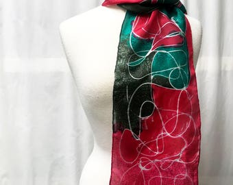 Lily Silk Painted Scarf
