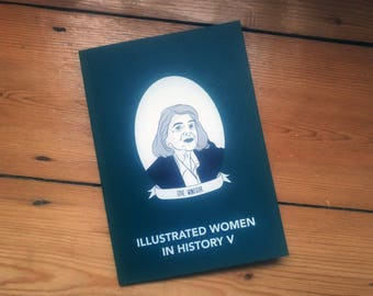 Illustrated Women in History zine issue 5 submissions diy publishing feminist comp zine