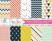 80% OFF SALE Craft Party Digital Paper Pack Commercial Use Digital Scrapbook Paper