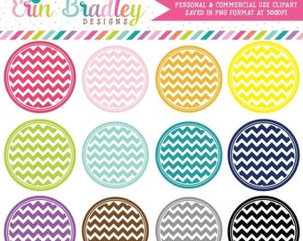 80% OFF SALE Chevron Circles Clipart Clip Art Personal & Commercial Use