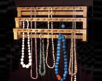 ON SALE 18 Inch Large Necklace Holder W/1 Inch Pegs Jewelry storage Jewelry Display Jewelry Holder