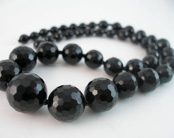 Onyx Stone 6 To 15.5 Mm Disco Faceted Gemstone Beads Full Strand T023