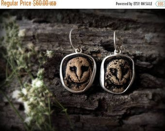owl earrings, sterling silver, owl gift, bird gifts, wise owl, ready to ship