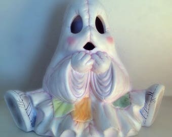 Rare Vintage Ceramic Patchwork Ghost