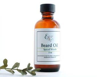 Spiced Woods Beard Oil - Beard Care, Beard Conditioning Oil,Beard Oil Conditioner