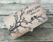 Recipe Box - Personalized custom wooden recipe box, rustic recipe box, hostess gift, housewarming 4x6 recipe box, wood family recipe box