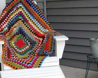 Vintage Crazy Color Afghan