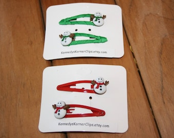 Your Choice of Snowman Snap Clip Set
