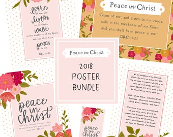 2018 Young Womens Theme Posters - Peace in Christ Mutual Theme