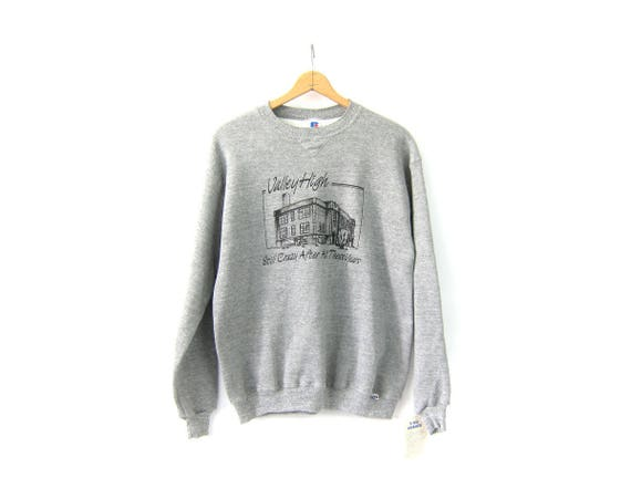 Oversized Heather Gray Sweatshirt 90s Vintage Unisex Valley High School Reunion Pullover Slouchy DES Sweatshirt Crewneck Top XL