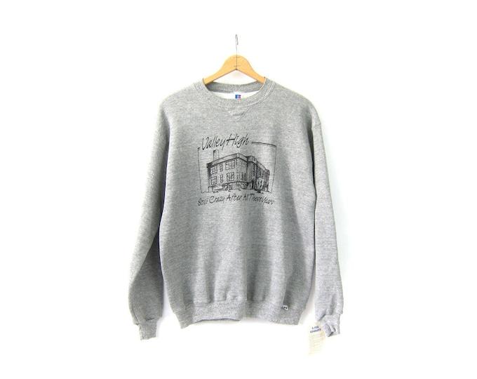 Oversized Heather Gray Sweatshirt 90s Vintage Unisex Valley High School Reunion Pullover Slouchy DES Sweatshirt Crewneck Top XL