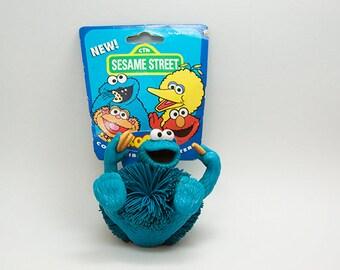 Sesame Street Cookie Monster Koosh Character Children's Television Workshop 1996 Jim Henson OddzOn