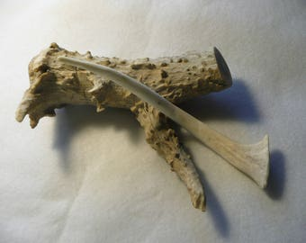 Elk Antler Hair Stick Fork Comb Pick  #53