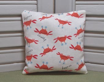 Crabs, lavender sachet, scented drawer sachet, lavender pillow, ocean animal, crabby, kids room, 100% dried lavender for a relaxing aroma