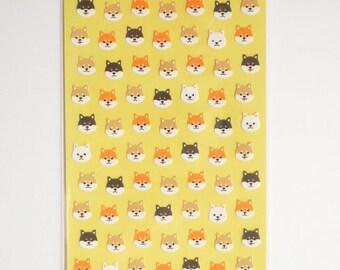 Kawaii Japanese Stickers - Shiba Inu Puppy - B