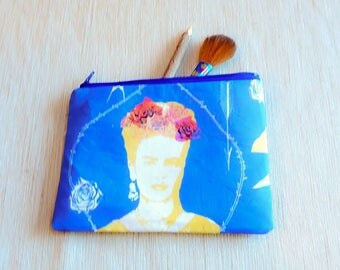 Frida Kahlo Gift for Women/ Make Up Bag/ Bridesmaid Gift/ Gift for Mom/ Christmas Gift/ Gift for Her/ BFF Gift/ Gift for Girlfriend/ Pouch