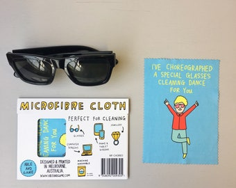 Microfibre Cloth - I've choreographed a special glasses cleaning dance for you