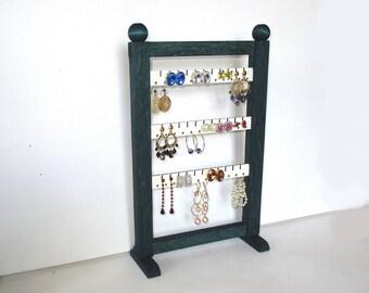 Earring holder, Jewelry holder, Earring rack, Jewelry rack, Stand, Oak, Jewelry Storage and Organization