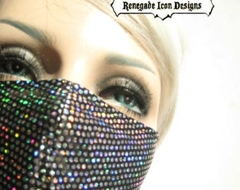 Dust mask, Metallic Rainbow mask, half mask, Play wear,  By Renegade Icon Designs