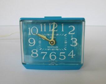Turquoise Westclock Dialite Alarm Clock