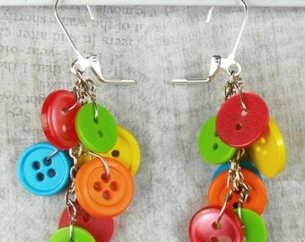 SALE, 50%, Buttons Buttons Everywhere earrings