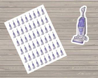 54 Small Vacuum Stickers Cute Planner Stickers Fits Erin Condren  Filofax Kikkik Plum Paper