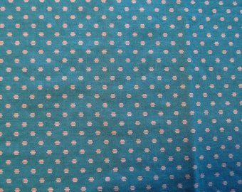 Free Shipping! VIP Print by Cranston, Teal and Silver. 1/2 Yard. 17098