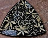 Carlotta's Garden Triangular Platter