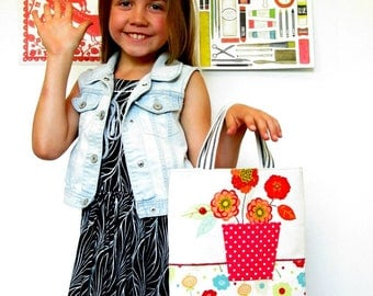 kids tote girls tote library tote book bag