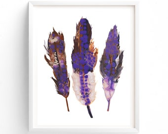 Boho Feathers print, Printable art, Printable Feathers, Wall art, Woodland Printable, Kids Room Art, Nursery decor, Dorm room art