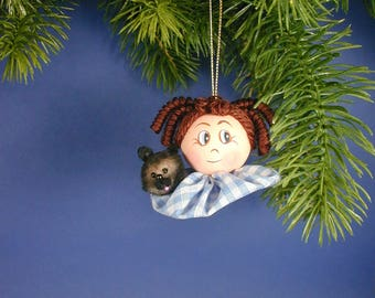Oz Dorothy Ornament/Oz Dorothy with Toto Ornament/Two Inch Dorothy/Toto Oz Ornament