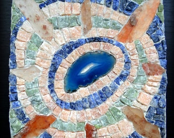 Painting mosaic blue Agate