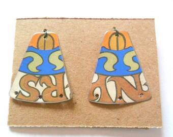 Upcycled Swedish Wish Cookie Tin Earring Findings