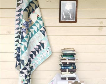 The Flying Home Quilt, You choose Size and color palette