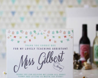 Personalised Teaching Assistant Gift Box