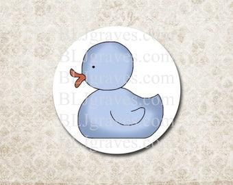 Duck Baby Shower Stickers Boy Girl Duck Envelope Seals Party Favor Treat Bag Stickers SB001