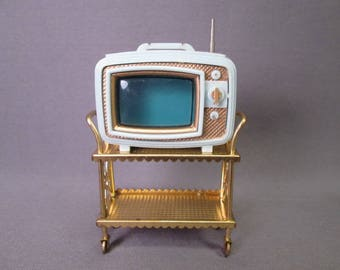Vintage Dollhouse - Ideal Petite Princess Fantasy Furniture - Portable Television Set - 1960's