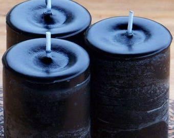 """BLACK CAULDRON BREW™ """"Old European Witchcraft""""™ Pillar Votive Candles w/ Dragon's Blood Frankincense Amber Mugwort Myrrh Patchouli & More"""