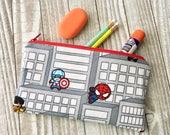 Zipper Pouch Pencil Case - Mini Marvel Heroes