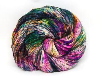 """Hardcore Sock Yarn - """"BamBOOzled"""" - Handpainted Superwash Merino - 463 Yards"""