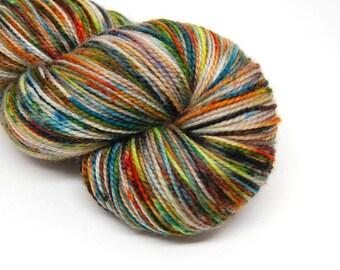 "Acoustic Sock Yarn - ""Autumn Afternoon"" - Handpainted Superwash Merino - 400 Yards"