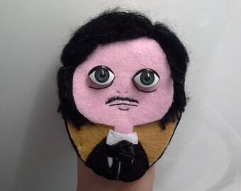 Felt Brooch Portrait Art Doll Edgar Allan Poe