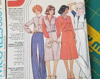 1970s Vest Jacket Pants Skirt 10 12 14 McCalls 5951