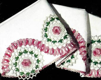 Rambling Rose Pillow Case Crochet Pattern 723101