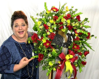 Video How To Make a Silk Flower Rooster Wreath Full Length Video, Rooster Wreath for Front Door