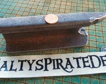 Small Train Track Paperweight, crude little Anvil, Bench Block, railroad, bench top anvil, vintage industrial, historical , track F6A