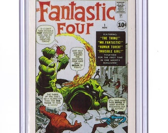 Marvel #1 Fantastic Four Comic Card from 1984 FTCC