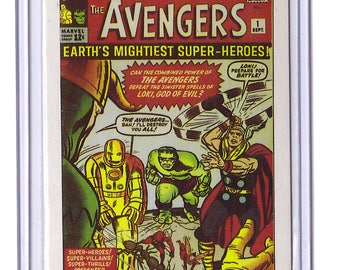 Marvel #1 The Avengers Comic Card from 1984 FTCC