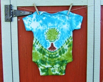 24m Tie Dye Baby Onesie - Little Tree  - Ready to Ship -