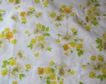 Two Matching Vintage Pequot Muslin Yellow Floral Pillowcases